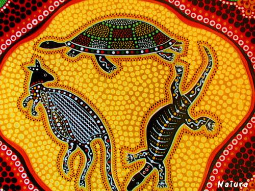 Australian aboriginal art artsy craftsy mom for Australian mural artists